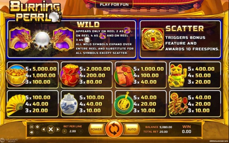 Burning Pearl game slot online