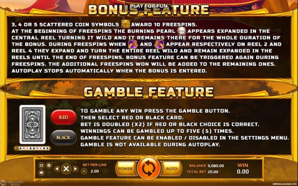 Burning Pearl slot game